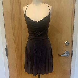 Flowy/flirty - charcoal mini dress